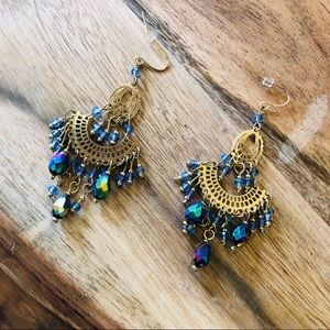 Boho Bohemian Festival Bead Chandelier Earrings